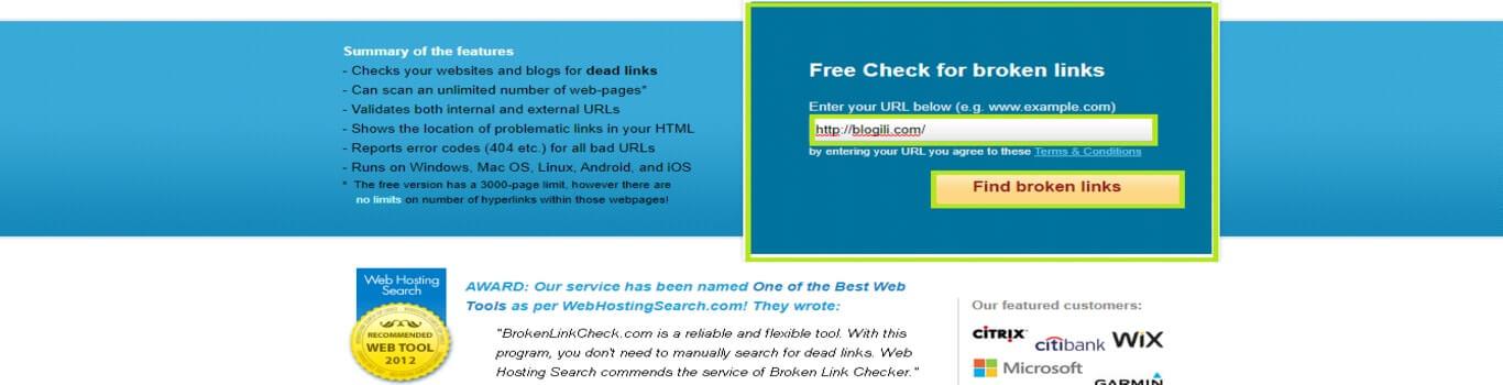 find broken links