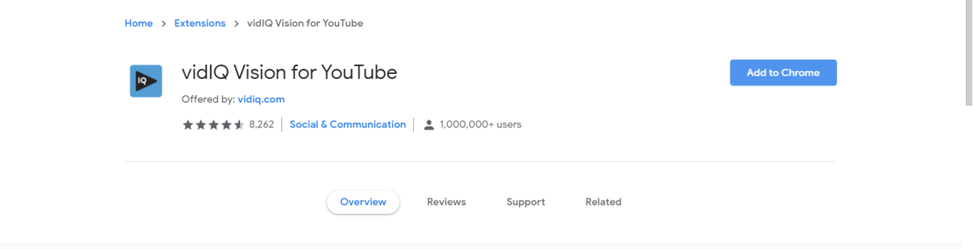 VidIQ Vision (SEO Chrome Extension for YouTube)