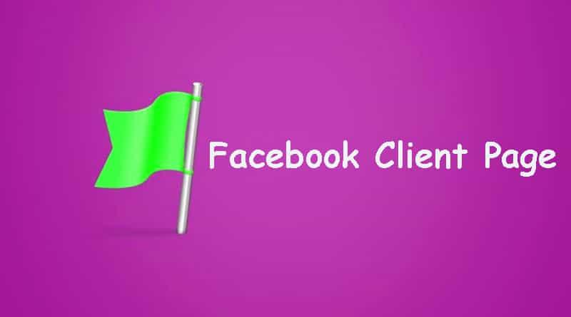 Facebook Client Page