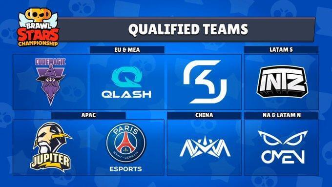 List of Qualified Teams for the Brawl Stars World Cup Final