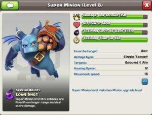 Super Minion Characteristics