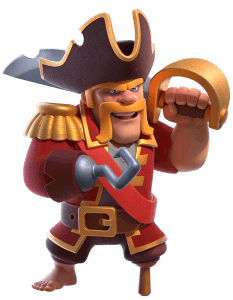 New Skin Pirate King in Clash of Clans