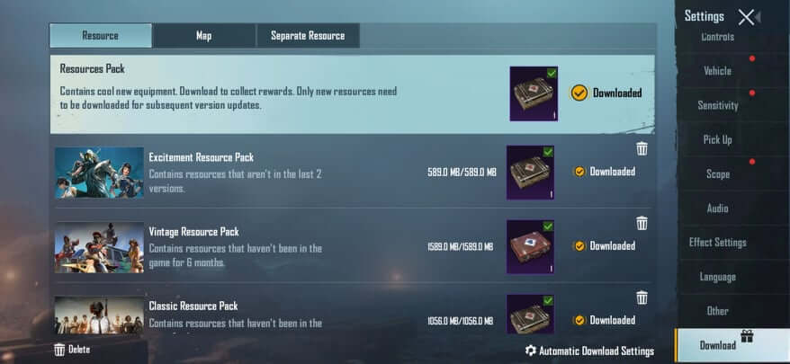 Download all Resources pack