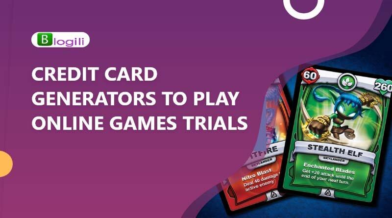 CREDIT CARD GENERATORS TO PLAY ONLINE GAMES TRIALS