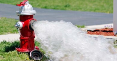 Firefighters Depend on Water Flow From Hydrants