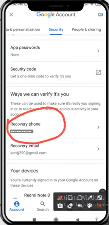 Change Gmail Recovery Phone & Gmail